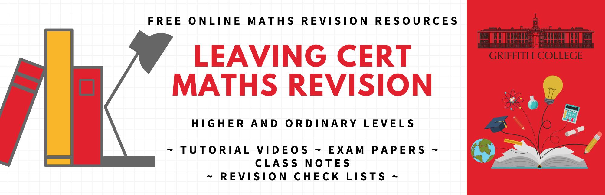 Free Leaving Cert Maths course
